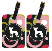 Carolines Treasures KJ1099BT Chinese Crested Luggage Tags - Pair Of 2