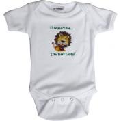 Lil Cub Hub 1WSSOL-612 White Short Sleeve Onesie - Lion 6-12 months