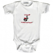 Lil Cub Hub 2WSSOR-36 White Short Sleeve Onesie - Raccoon 3-6 months