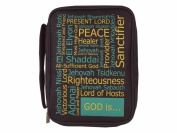 Swanson Christian Supply 83101 Bible Cover Canvas - Names Of God - X Large - Black