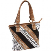 BNFUSA LUPFF07 Casual Outfitters Ladies Fashion Zebra Purse with Phone Pouch