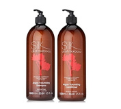 Silk Oil of Morocco Argan Oil Volumising Shampoo & Volumising Conditioner (Shampoo and Conditioner Set, Salon Size 1000ml) - Hair Thickening Shampoo - Conditioner for FINE HAIR, Conditioner for OILY HAIR, - NO OILY ROOTS - Volume Conditioner - Argan Oi ..