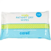 Carell Everyday Patient Dry Wipes - 2 Packs of 100 Wipes
