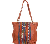 Aryana Adi-15-Brn Chic Brown Multi Colour Print O Ring Single Strap Womens Tote Bag