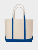 Peerless CAN02L-Royal Large Sailing And Boat Tote Bag Royal
