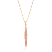 C Jewellery Rose Gold-Tone Crystal Charm Necklace