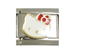 Hello Kitty White - 9mm Italian charm fits Zoppini, Talexia, Boxing and Nomination style Italian charms