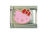 Hello Kitty pink - 9mm Italian charm fits Zoppini, Talexia, Boxing and Nomination style Italian charms