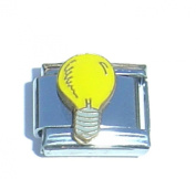 Light bulb Electrician - 9mm Italian charm fits Zoppini, Talexia, Boxing and Nomination style Italian charms