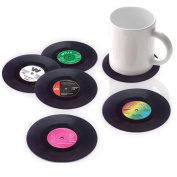 MSY Stylish Vinyl Record Coasters