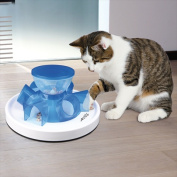 TRIXIE Pet Products 46002 Tunnel Feeder for Cats - Blue & White