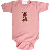 Lil Cub Hub 5CSSOGBP-612 Pink Short Sleeve Onesie - Girl Bear 6-12 months