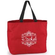 Hortense b Hewitt 50386P Flourish Frame Tote Bags - Red