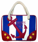 Divinity Boutique 102459 Bible Cover - Nautical - Hope Anchors The Heart - Medium