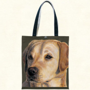 Fiddlers Elbow t907 Yellow Lab Canvas Tote