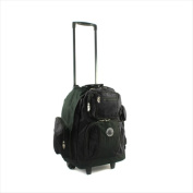 Transworld 738131-BLK Roll-Away Deluxe Rolling Backpack Black