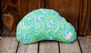 Littlebeam LBNP2 Green Paisley Nursing Pillow Classic Cotton Collection
