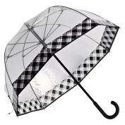 Elite Rain Frankford RF01-PL Premium Fibreglass Bubble Umbrella Plaid Trim