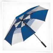 Elite Rain Frankford GF01-NW Fibreglass Golf Umbrella Navy and White
