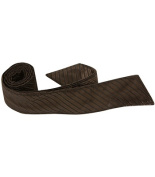 Matching Tie Guy 4067 N6 HT - 110cm . Child Matching Hair Tie - Brown With Black Pinstripe