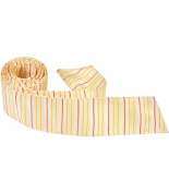 Matching Tie Guy 2967 Y2 HT - 110cm . Child Matching Hair Tie - Yellow With Stripes
