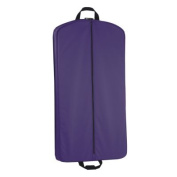 WallyBags 854 Purple 100cm . Suit Length Garment Bag with Pockets