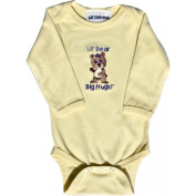 Lil Cub Hub 5CLSOGBY-612 Yellow Long Sleeve Onesie - Girl Bear 6-12 months