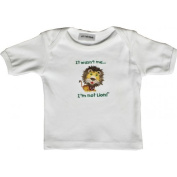 Lil Cub Hub 1WSSTL-612 White Short Sleeve T-Shirt - Lion 6-12 months