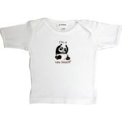 Lil Cub Hub 3WSSTP-1218 White Short Sleeve T-Shirt - Panda 12-18 months