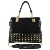 Emboss HB-B202BK Office Lady Favourite Shoulder Bag Ariesr Handbag Black