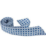 Matching Tie Guy 4027 B21 HT - 110cm . Child Matching Hair Tie - Blue With Light Blue & Silver