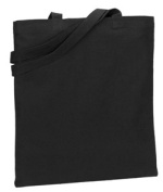 UltraClub 9860 Organic Recycled Cotton Canvas Tote - Black