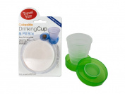Bulk Buys GR031-12 Collapsible Drinking Cup and Pill Box