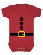 Boy's Father Christmas Outfit Baby Grow Bodysuit Gift