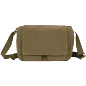 Fox Outdoor 43-701 Retro Departure Shoulder Bag With Plain Flap - Olive Drab