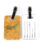 Carolines Treasures 8654BT 10cm x 7cm . Pair of Pineapple Luggage Tag