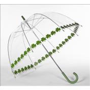 Elite Rain Frankford RB01-SS Clear Printed Bubble Umbrella Shamrock String