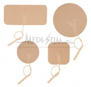 Premium 1913 Medi - Stim Premium 3.5cm . Rnd. Pigtail Tan Tricot Reusable Electrodes 4 Per Pkg