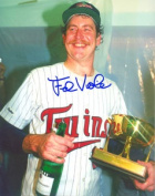 Real Deal Memorabilia FViola8x10-1 Frank Viola Autographed Minnesota Twins 8x10 Photo - 1987 World Series Champion and MVP