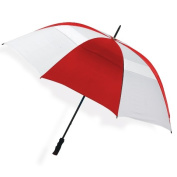 Peerless 2500V-Red-White The Bogey Vented Sport Umbrella Red And White
