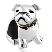 Cute Puppy Pet Dog Bead Charm Fits Pandora Bracelet
