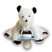 *FLASH SALE* Parker the Polar Bear Soft ★Dummy Holder★ by Uggogg & Inny. Strong Clip to change to Dummy of your choice. Cute, Lightweight & Cuddly Friend for your Baby, Toddler or Infant. Washable. Baby Shower Gift