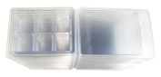 Wax Tart Clamshell Mould with Tight Lid Clear Plastic 6 Cubes Cavity 80ml - 75 pack