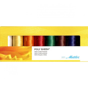 Mettler PolySheen Embroidery Thread Spools (Set of 8), 1500 yd/1372m,