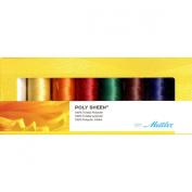 Mettler PolySheen Embroidery Thread Spools (Set of 8), 1500 yd/1372m,