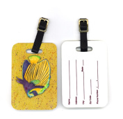 Carolines Treasures 8577BT 10cm x 7cm . Pair of Tropical Fish on Mustard Luggage Tag