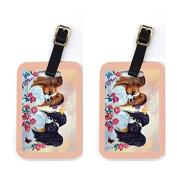 Carolines Treasures 7272BT Pair of 2 Papillon Luggage Tags