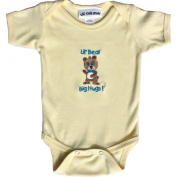 Lil Cub Hub 4CSSOBBY-36 Yellow Short Sleeve Onesie - Boy Bear 3-6 months