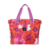 French West Indies 2521998305 Polyester Small Tote Bag - Pop Flower Purple 35cm .
