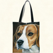 Fiddlers Elbow t909 Beagle Canvas Tote